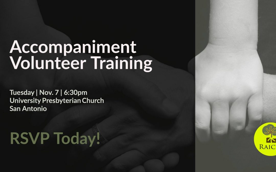 Accompaniment Volunteer Training – November 7, 2017