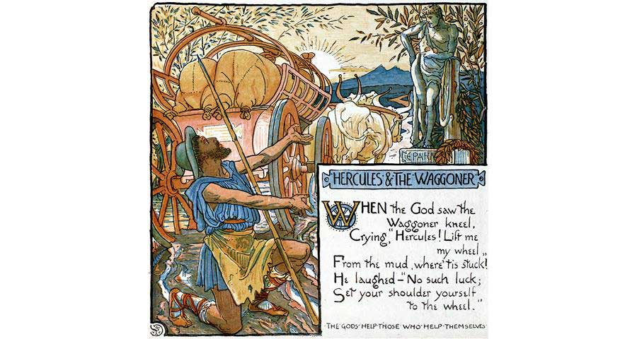 Fable: Hercules & the Waggoner (Thoughts & Prayers)