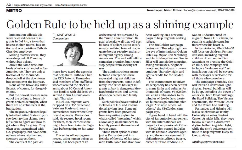 Golden Rule to be held up as a shining example