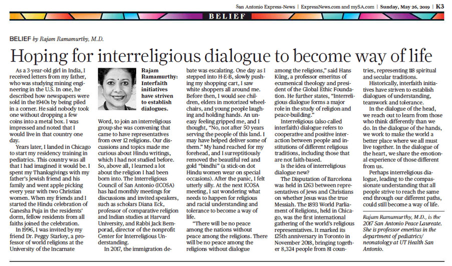 Hoping for interreligious dialogue to become way of life