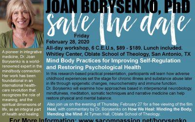 5th Annual Psychology Workshop: Joan Borysenko, 28 February, 2020
